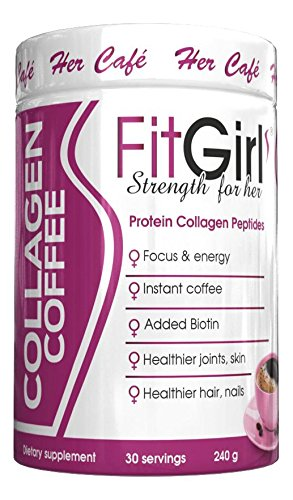 Cheap FitGirl pure hydrolyzed collagen peptides with instant coffee, grass fed, 30 servings promotes healthy skin , healthier coffee