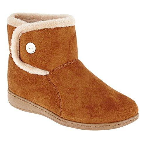 Vionic Women's Vanah Boot Slippers Chestnut 5 / Med