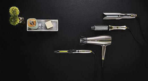 Grundig HD 8680 Negro, Gris pardo, Amarillo 2400 W - Secador de pelo (Corriente alterna, Negro, Gris pardo, Amarillo, Monótono, Con agujero en la empuñadura ...