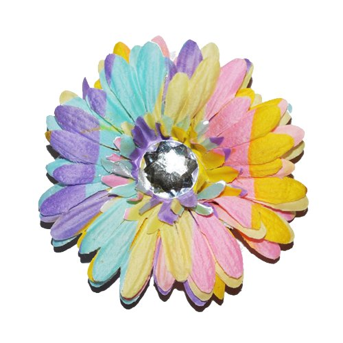 Squishy Pet Products Sprinkles Collar Accessories, Dream in Pastel, 4-Inch, Pastel-Colored Gerber Daisy ()