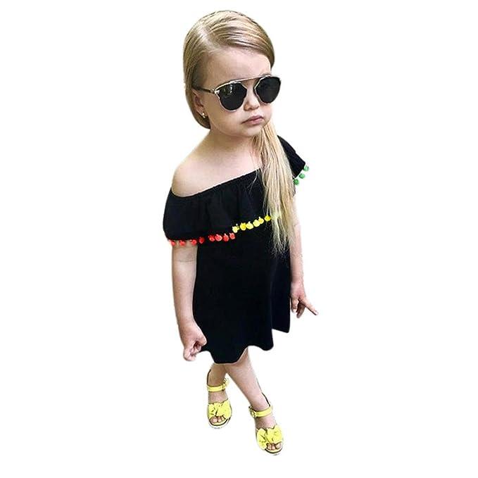 Kleinkind Kinder Baby Mädchen Schulterfrei Quaste Prinzessin Party ...