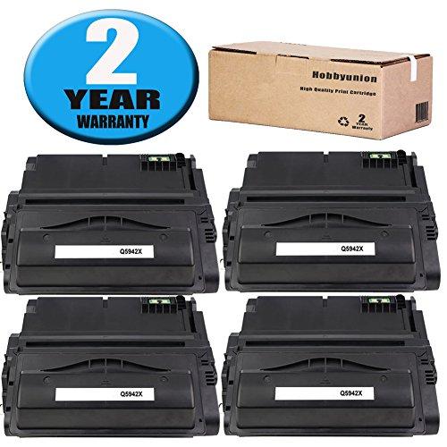 Compatible Q5942X Toner Cartridge Black by Hobbyunion for 42X Q5942X Toner , use LaserJet 4200 4240 4250 4250N 4250TN 4250DTN 4300 4345MFP 4350 4350N 4350TN 4350DTN, 4 Pack ()