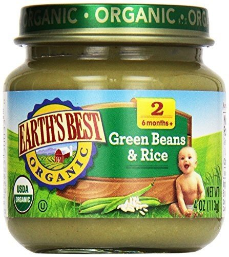 EARTHS BEST STRAINED GRN BEAN & RICE ORG, 4 OZ, PK- 12 by Earth's Best