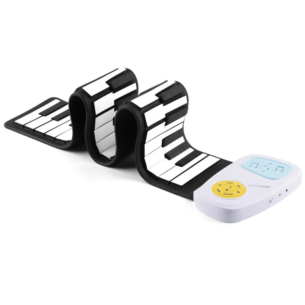 MDYYD-RP Roll Up Piano for Kids Children's Piano, Rolled Up Piano Keyboard 49 Keys Flexible Soft Electric Digital Portable Piano Beginner Musical Instrument Flexible Electronic Digital Music Piano by MDYYD-RP