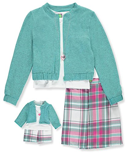 Zip Jacket & Knit Skirt - 5