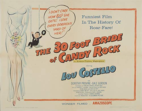 Berkin Arts Movie Poster Giclee Print On Canvas-Film Poster Reproduction Wall Decor(The 30 Foot Bride of Candy Rock 2) #XFB (The 30 Foot Bride Of Candy Rock)