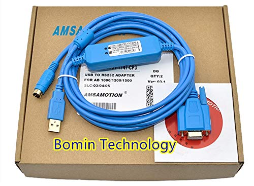 Bomin Technology for AB Rockwell PLC Programming Cable USB-1761-CBL-CP3 for AB 1000//1200//1500