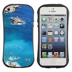 Pulsar iFace Series Tpu silicona Carcasa Funda Case para Apple iPhone 5 / iPhone 5S , Nature Lagoon Rock