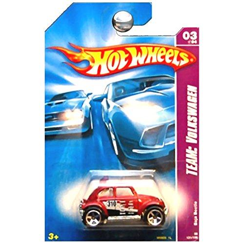 Hot Wheels 2008 Team Volkswagen VW Baja Beetle Bug Red (Volkswagen Baja Bug)