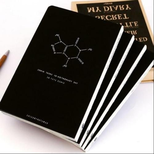 "Shalleen ""Magical Science"" 1pc Journal Diary Blank Paper Notebook Study Black Sketchbook"