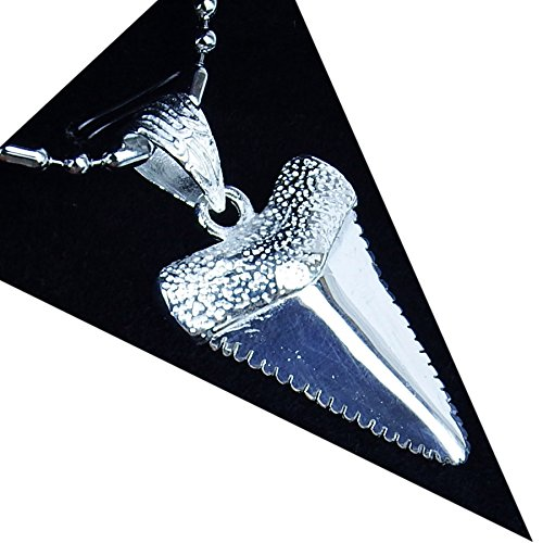 sterling silver shark necklace - 5