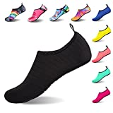 #9: Womens and Mens Water Shoes Barefoot Quick-Dry Aqua Socks for Beach Swim Surf Yoga Exercise (TW.Black, M)