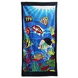 Tropical Fish Beach Towel - 30''x60'' High Quality Cotton