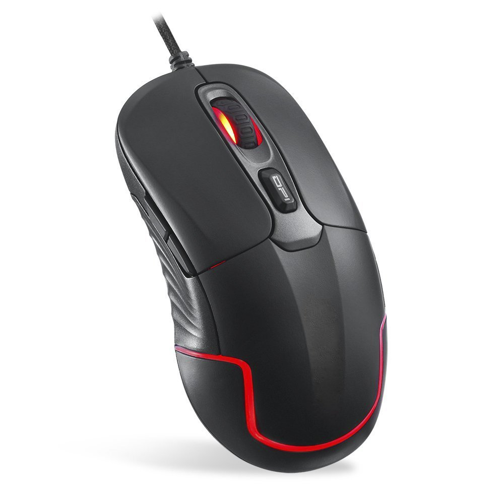 Uciefy G200 Computer Gaming Mouse Wired RGB Backlit with 7 Breathing LED Light 6 Programmable Buttons 4000 DPI USB Optical Mice for PC/Laptop/Computer (black)