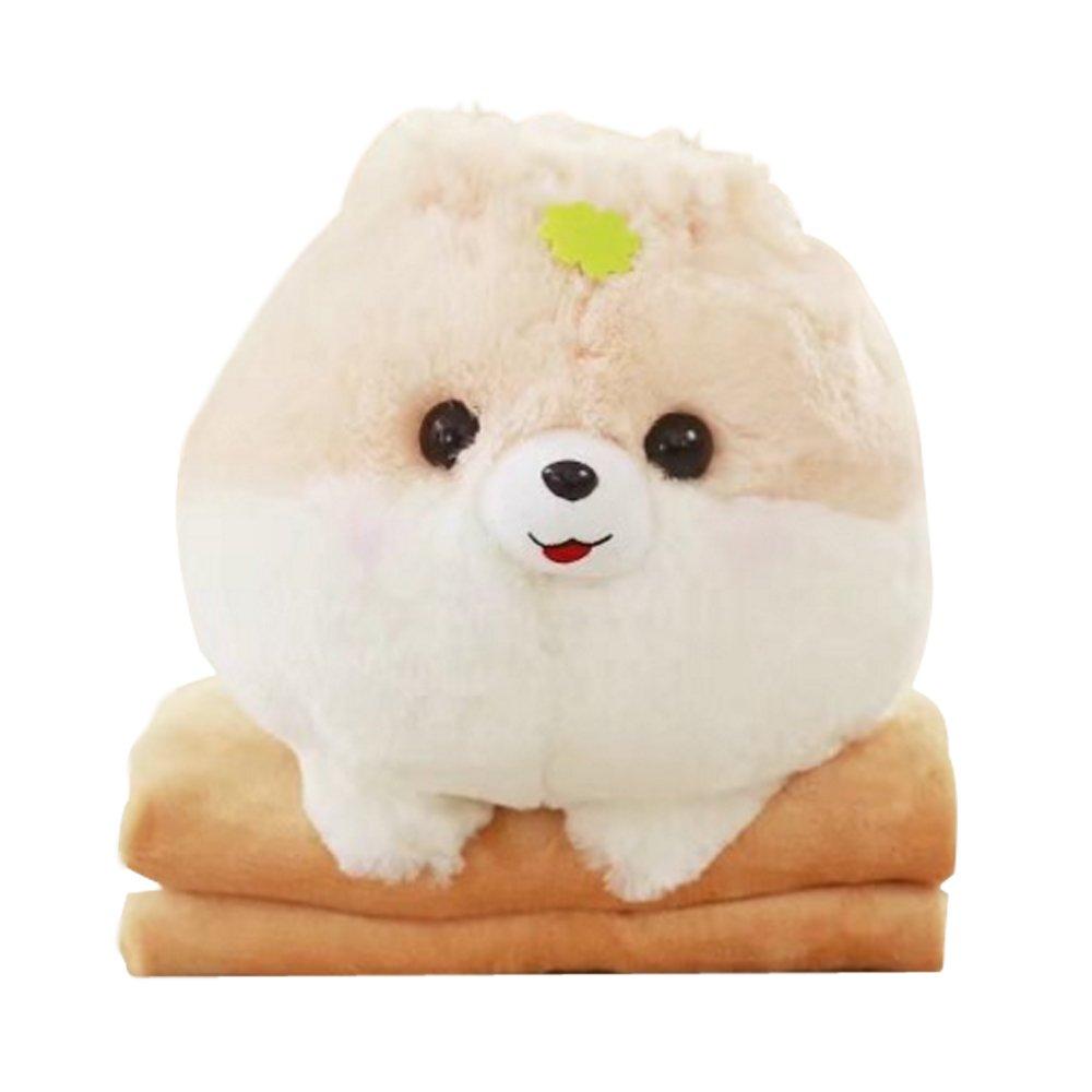 NAS AOSTAR 2 in 1 Pillow Blanket Plush Stuffed Animal Toys Throw Pillow and Blanket Set (Yellow)