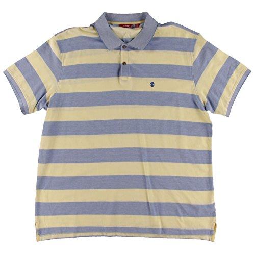 Izod Mens Cotton Striped Polo Shirt Blue S (Izod Striped Polo Shirt)
