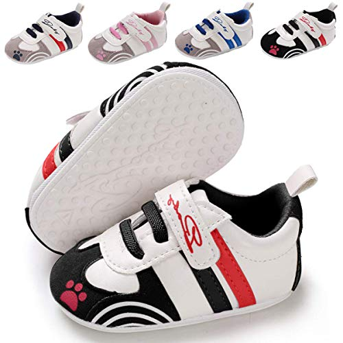 Baby Boys Girls Sneakers Non Slip Rubber Sole Infant Toddler First Walker Outdoor Tennis Crib Dress Shoes