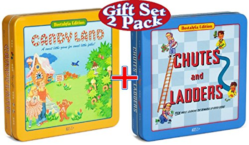 Candy Land & Chutes and Ladders Deluxe Board Game in (Game Deluxe Tin)
