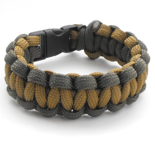 Children's / Youth 550lb Paracord Bracelet with Breakaway Plastic Buckle-19 Colors (Olive Drab & Coyote Brown, 6.0