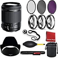 Tamron AF 18-200mm F/3.5-6.3 Di-II VC All-In-One Zoom for Canon APS-C Digital SLR, with 3 Peice Filter Kit, Blower, Pen, Case, Cap Keeper, and Cleaning Cloth, Macro 3 Piece Closeup Kit