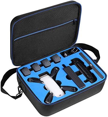 DACCKIT 여행용 휴대용 케이스 DJI Spark Fly More 콤보와 호환 - DJI 스파크 드론 4x 지능형 비행 배터리 원격 컨트롤러 충전 허브 및 기타 액세서리 / DACCKIT 여행용 휴대용 케이스 DJI Spark Fly More 콤보와 호환 - DJI 스파크 드론 4x 지능형 ...