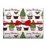 Christmas Cupcake Jumbo Rolled Gift Wrap 67 sq.ft. Deal (Small Image)