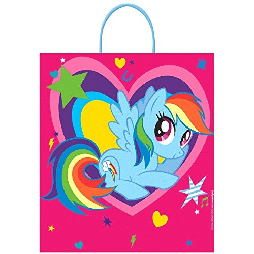 Rainbow Dash Costume Toddler (Amscan My Little Pony Birthday Rainbow Dash Loot Bag Party Favour, Multicolor, 16