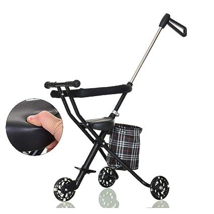 Cochecitos de tres ruedas Carro de bebé,Portátil plegable ...