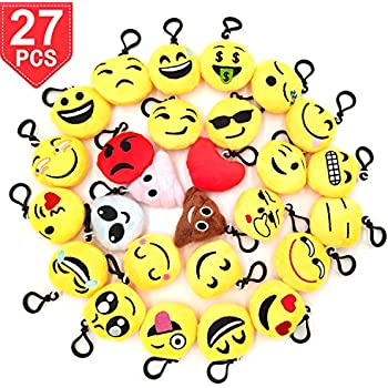 Amazon.com: O hill 24 Pack Emoji Felpa almohadas Mini ...
