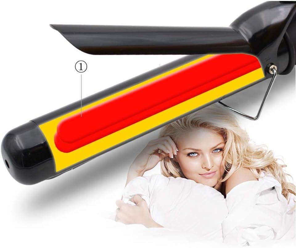DZSF 110V-220V Rizador de Pelo de cerámica Hierros 19-38Mm Herramientas de peluquería LCD Curling Digital Hair Roller Magic Hair Curand Wand,38mm: Amazon.es: Deportes y aire libre