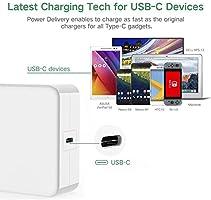 65W USB-C Cargador de alimentación USB PD con 1 puerto USB ...