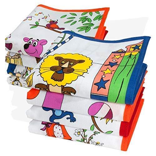 Fazzoletti per Bambini - 26x26cm - 8 pezzi – Modello « Bambino» product  image 2be7f2c63f39