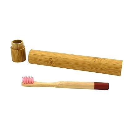 YeahiBaby Cepillo de dientes de bambú natural, biodegradable, de madera, respetuoso con el