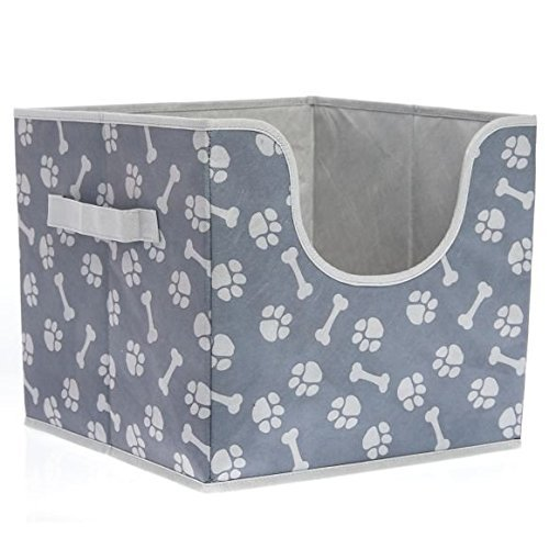 Dog Storage Toy Box (Top Paw Folding Pet Storage Box)