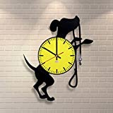 Dog Breed Ornaments Vinyl Record Wall Clock – Get unique garage room wall decor – Gift ideas boys and girls – Interior Decor Unique Modern Art Design Review