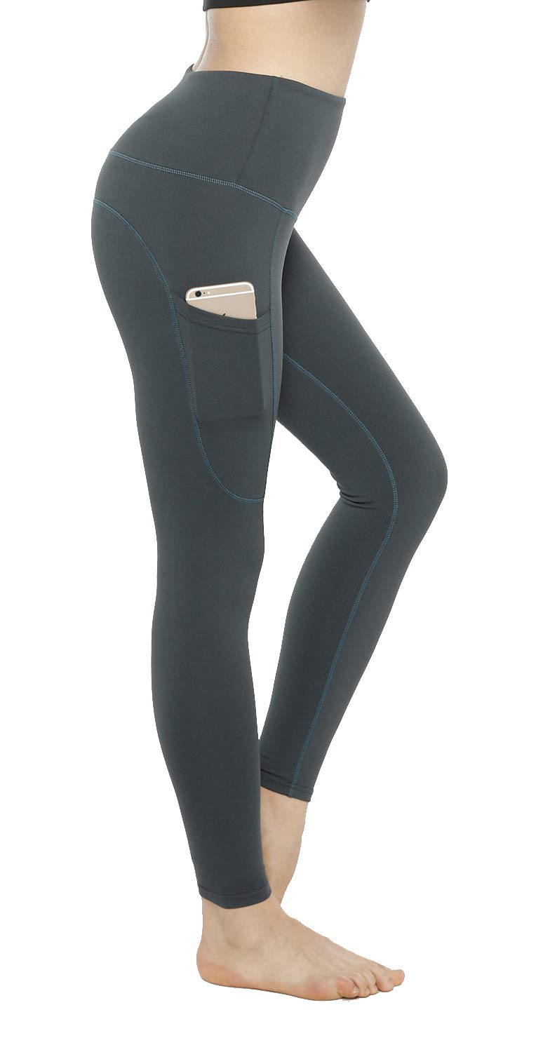 ca075b16c41 High Waisted Leggings with Pockets - Workout Leggings for Women Stretch  Power Flex Yoga Pants -