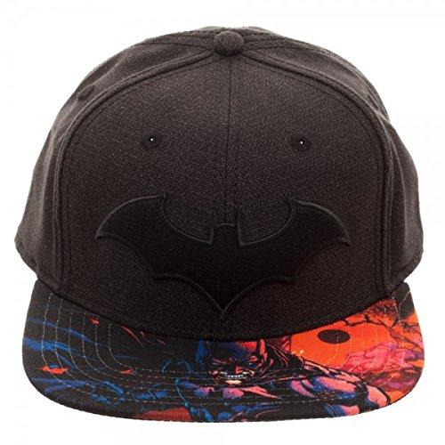 330dc35f272 Image Unavailable. Image not available for. Color  Batman DC Comics Arkham  Logo Black Snapback Hat