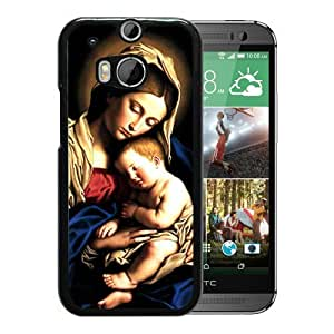 catholic art black for HTC ONE M8 Phone Cover