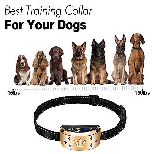 Dog Bark Collar, Waterproof Dog Training Collar, 3 Stop Anti Barking Modes [Beep, Vibration, and Shock], Anti Bark Collar Rechargeable for Small/Medium/Large Dogs