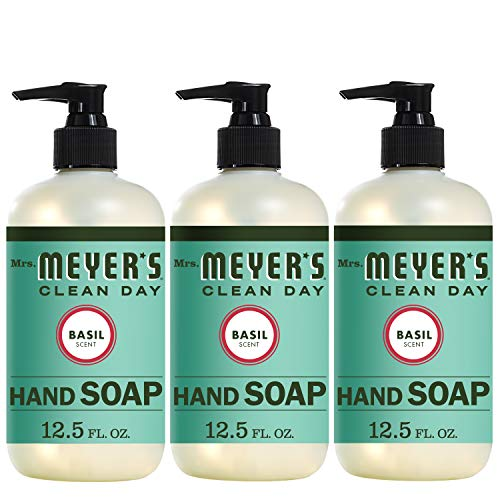 Mrs. Meyer's Clean Day Liquid Hand Soap, Basil Scent, 12.5 Fluid Ounces, Pack of 3 from Mrs. Meyer's