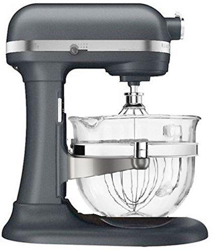 KitchenAid KF26M2XGR 6-Qt. Professional 600 with Glass Bowl Grey