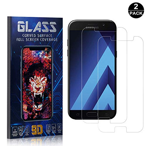 Galaxy A5 2017 Screen Protector, UNEXTATI Premium HD [Anti Scratch] [Anti-Fingerprint] Tempered Glass Screen Protector Film for Samsung Galaxy A5 2017 (2 Pack) ()