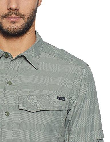 Cypress Ridge Men's Stripe Columbia Long Shirt Silver Plaid Sleeve Fqwax10B