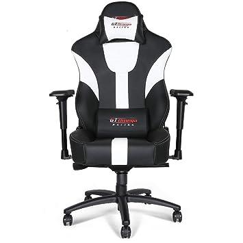 Gt Et Omega Ergonomique En 4d Accoudoir Solide Master De Réglable Inclinable Jeu Xl Support Chaise Avec Lombaire Cuir Bureau HED2I9