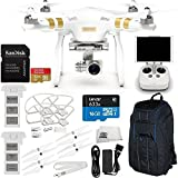 DJI Phantom 3 Professional Quadcopter w/ 4K Camera, 3-Axis Gimbal & Manufacturer Accessories + Extra DJI Battery + Manfrotto MB BP-D1 DJI Professional Video Equipment Cases Drone Backpack + MORE
