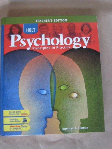 Holt Psychology - Teachers Edition: Principles in Practice