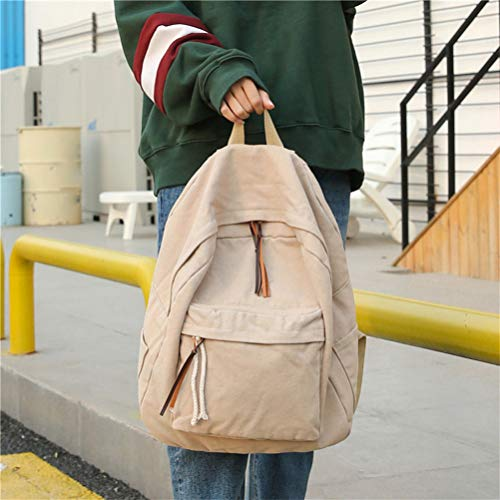 Bag Vhvcx School Famous Color Shoulder B Bags Female Solid Fashion Women Backpack Canvas Rpraw0p4q