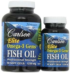 Carlson labs elite omega 3 gems fish oil for Carlson fish oil amazon