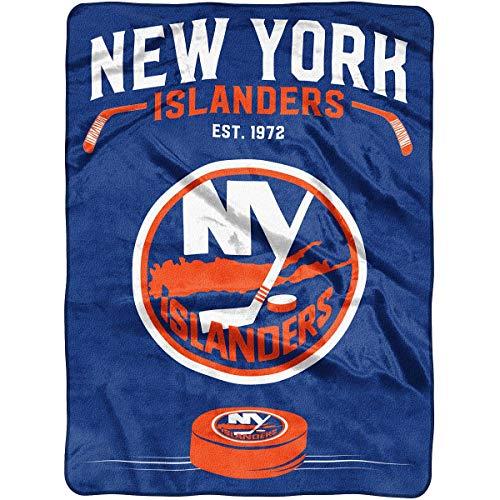 The Northwest Company Officially Licensed NHL New York Islanders Inspired Plush Raschel Throw Blanket, 60