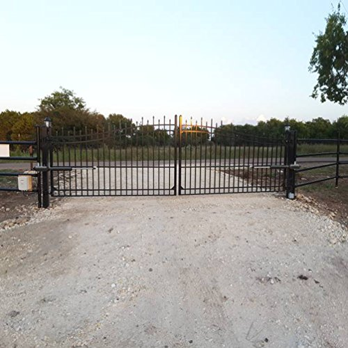 """TOPENS AD5 Automatic Swing Gate Opener for Dual Swing Gate Up to 550lbs or 16 Feet Each Leaf, Extra """"Push to Open"""" Bracket Included by TOPENS (Image #4)"""